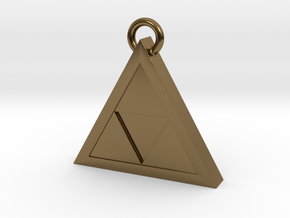Triforce Pendant in Polished Bronze