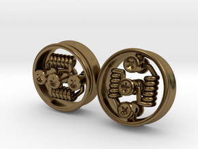 """NEW 1"""" RDA PLUGS PAIR - CHEAPEST OPTION! in Polished Bronze"""