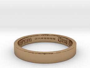 177 tempus edax rerum john titor Ring Size 7 in Polished Brass