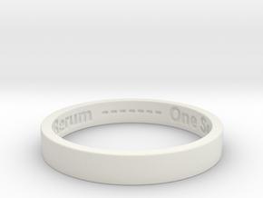 177 tempus edax rerum john titor Ring Size 7 in White Natural Versatile Plastic