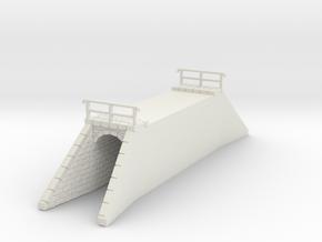 NPTR4 Railway bridges on road in White Natural Versatile Plastic