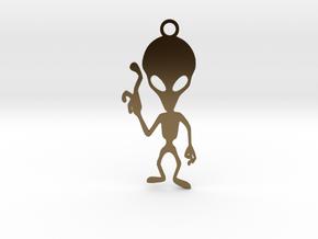 Alien Pendant in Polished Bronze
