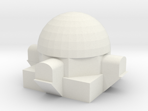 20140924DomeHouseMiniature in White Natural Versatile Plastic