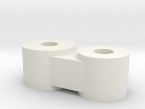 Drift Arm Joint in White Natural Versatile Plastic