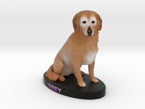 Custom Dog Figurine - Drey in Full Color Sandstone