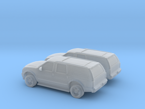 1/160 2X 2003 Ford Excoursion in Smooth Fine Detail Plastic