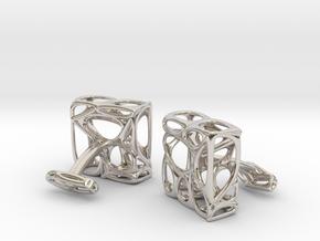 Organic Cufflinks in Platinum