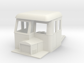 009 articulated railcar front part half cab in White Natural Versatile Plastic