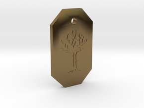 Gared's Pendant in Polished Bronze