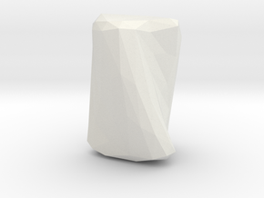 """Crumpled Paper"" Vase in White Natural Versatile Plastic"