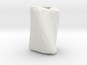 Crumpled Paper Vase  in White Natural Versatile Plastic