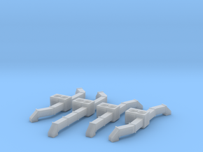 Rooftop AC Unit Set Of 4 N Scale in Smooth Fine Detail Plastic