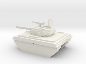 Voxel battle tank in White Natural Versatile Plastic