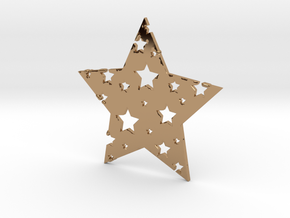 Funky Star in Polished Brass