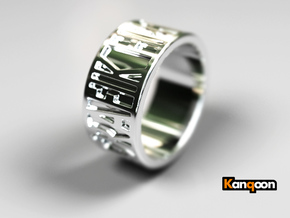 Brunhilde - Ring - unique - in Polished Silver