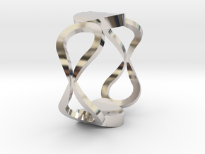 InfinityLove ring Size 50 in Rhodium Plated Brass