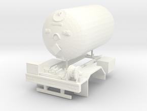1/50th Propane single Axle delivery truck body in White Processed Versatile Plastic