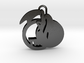Jesus Resurrection - Pendant in Matte Black Steel