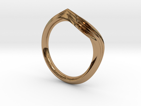 Pride Ring, Side 2 in Polished Brass
