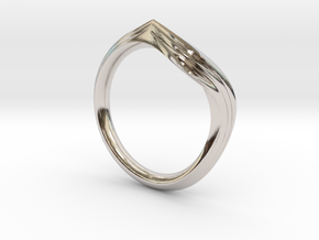 Pride Ring, Side 2 in Rhodium Plated Brass