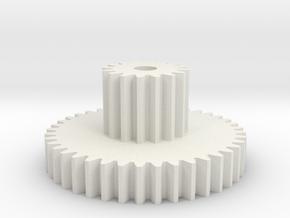 Tilt Gear in White Natural Versatile Plastic