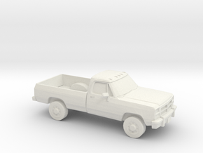 1/64 1991-93 Dodge Ram Single Cab in White Natural Versatile Plastic