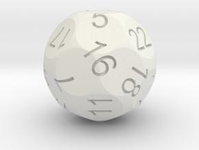 Alt D22 Sphere Dice in White Natural Versatile Plastic
