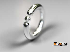 Bali Bania - Ring - US 6¾ - 17.12 mm in Polished Silver