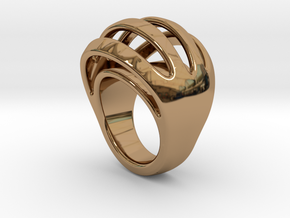 RING CRAZY 27 - ITALIAN SIZE 27  in Polished Brass