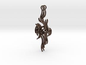Abstract Hanger Earrings #2 in Polished Bronze Steel