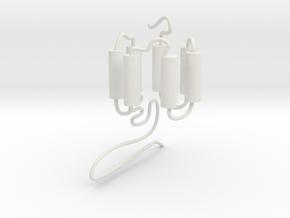 GPCR(3D) in White Natural Versatile Plastic