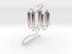 GPCR(3D) in Rhodium Plated Brass