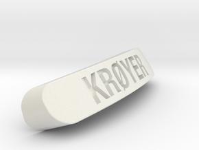 KRØYER Nameplate for Steelseries Rival in White Strong & Flexible