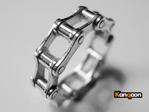 Violetta S - Bicycle Chain Ring in Polished Silver: 9 / 59