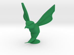 Hornet Hood Ornament in Green Strong & Flexible Polished