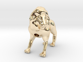 Lion in 14K Yellow Gold
