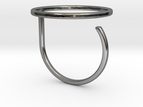 Circle ring shape. in Fine Detail Polished Silver