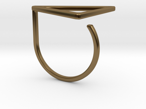 Triangle ring shape. in Polished Bronze