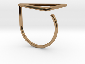 Triangle ring shape. in Polished Brass