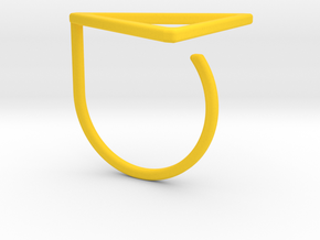 Triangle ring shape. in Yellow Processed Versatile Plastic