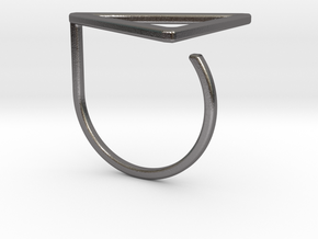 Triangle ring shape. in Polished Nickel Steel