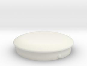 Cap Plug for 24mm Hole in White Natural Versatile Plastic