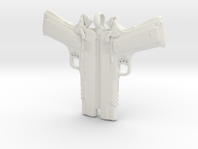 Colt 1911 Pendant in White Natural Versatile Plastic
