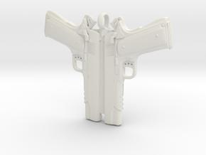 Colt 1911 Pendant in White Natural Versatile Plastic