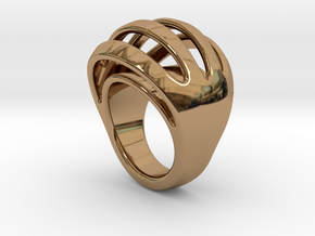 RING CRAZY 29 - ITALIAN SIZE 29  in Polished Brass