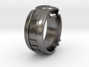 Eye Scanner Visor Ring in Polished Nickel Steel