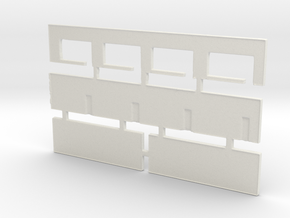 Strip Mall Walls 2 Z Scale in White Natural Versatile Plastic