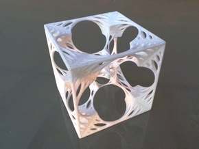 Organic HyperMenger Fractal in White Strong & Flexible
