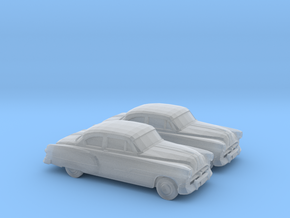 1/160 2X 1951 Pontiac Chieftan Coupe in Smooth Fine Detail Plastic