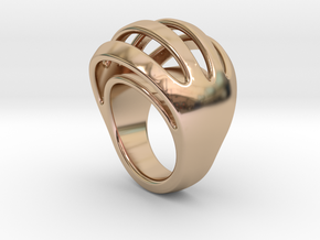 RING CRAZY 30 - ITALIAN SIZE 30  in 14k Rose Gold Plated